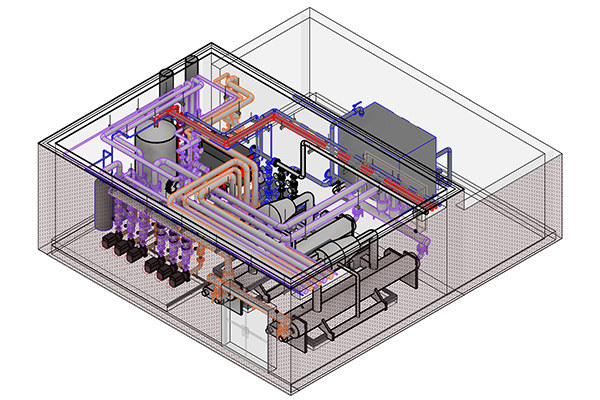 Isometric Boiler Room Modeling With Revit MEP