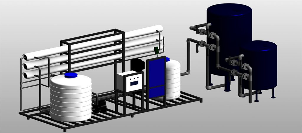 Reverse Osmosis Water Treatment System 3D Modeling - with Revit MEP