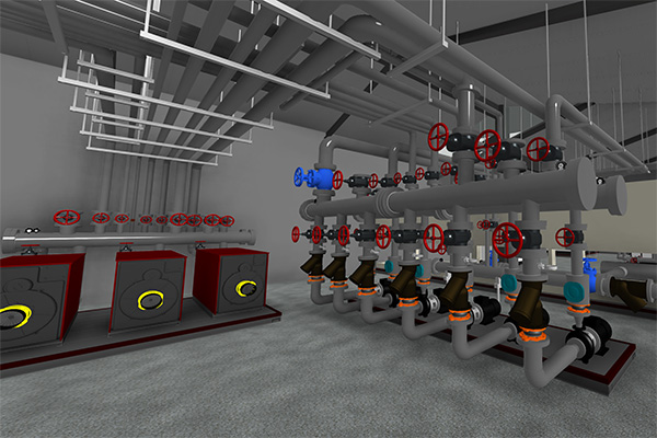 Boiler Room Perspective View - BIM Tecnology