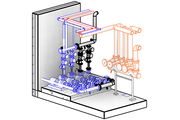 Booster Pumps 3D Modeling With Revit MEP