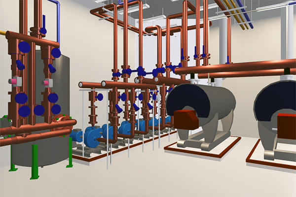 Boiler Room 3D View With BIM Technology